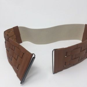 Accessories - Brown Braided Stretchy Belt